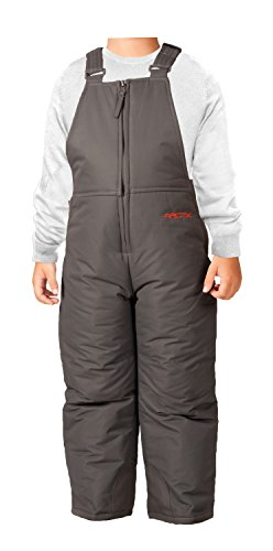 Arctix Infant/Toddler Insulated Snow Bib Overalls,Charcoal,2T
