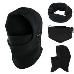 Winter Hat, ღ Ninasill ღ Exclusive 6 in1 Neck Balaclava Winter Face Hat Fleece Hood Ski Mask War ...