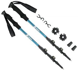 OMID Trekking Poles – 2 Pack Quick Locking System Collapsible Lightweight Pole with Tungst ...