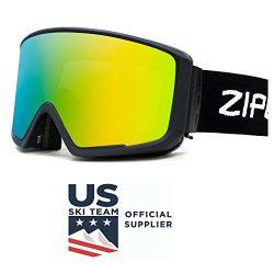 Zipline Podium CL Ski/Snowboard / Snowmobile Goggles – No Fog – 6 Lens Interchangeab ...
