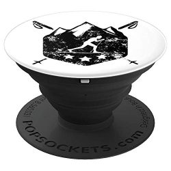 Snow Ski Tripe Cross Country – Detailed Graphic Design – PopSockets Grip and Stand f ...