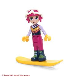 LEGO Friends MiniFigure – Stephanie (w/ Snowboard, Helmet & Ski Pants) 30402