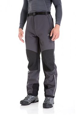 Clothin Men's Fleece-Lined Soft Shell Winter Pants – Insulated, Water and Wind-Resistant