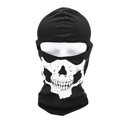 Mchoice Tactical Motorcycle Cycling Hunting Outdoor Ski Skull Face Mask Helmet (A)