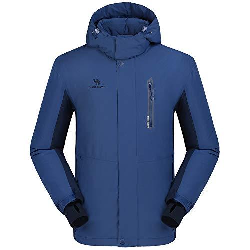 CAMEL CROWN Men's Mountain Snow Waterproof Ski Jacket Detachable Hood Windproof Fleece Parka Rai ...