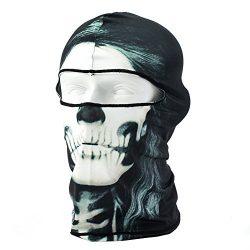 lilyy Ski Mask 3D Printed Skull Hat Outdoor Cycling Motocycle Beanies Bike Lycra Balaclava Full  ...