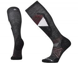 SmartWool Men's PhD Ski Light Pattern Socks (Charcoal) X-Large