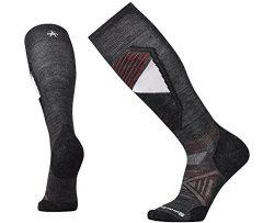 SmartWool Men's PhD Ski Light Pattern Socks (Charcoal) X-Large