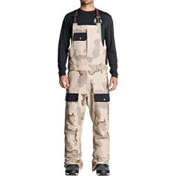 DC Men's Platoon Snow SKI BIB, Incense DCU camo Melon, L