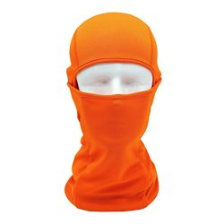 Leedford Face Mask, Tactical Motorcycle Cycling Hunting Outdoor Ski Full Face Mask Helmet (Orange)