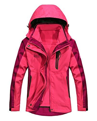 MOERDENG Women's Mountain Waterproof Ski Jacket Outdoor Windproof Snow Jacke