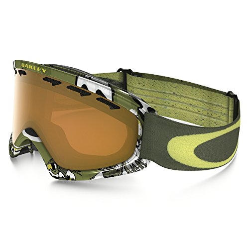 Oakley O-Frame 2.0 XS Snow Goggles, Shady Trees Army Green Frame, Persimmon Lens, Small