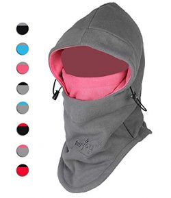 Purjoy Multipurpose Use 6 in 1 Thermal Warm Fleece Balaclava Hood Police SWAT Ski Bike Wind Stop ...