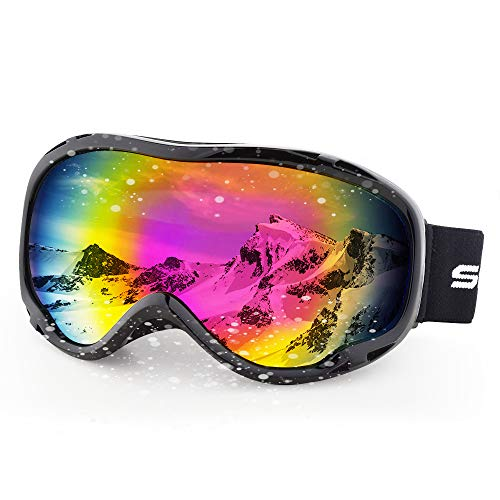 Hubo Sport Ski Goggles for Men Women Adult,Ski Snowboard Goggles of Dual Lens with Anti Fog for  ...