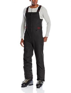 Arctix Men's Athletic Fit Avalanche Bib Overall, Black, Large