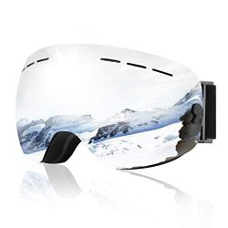XOOYKI Ski Snowboard Goggles Winter Sports Eyewear Dual Lens Anti-Fog OTG UV Protection Replacea ...
