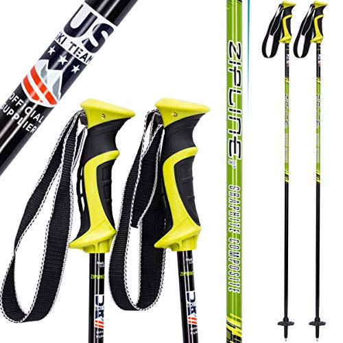 Zipline Ski Poles Carbon Composite Graphite Lollipop U.S. Ski Team Official Ski Pole – Cho ...