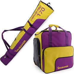 BRUBAKER Superfunction – Limited Edition – Combo Ski Boot Bag and Ski Bag for 1 Pair ...