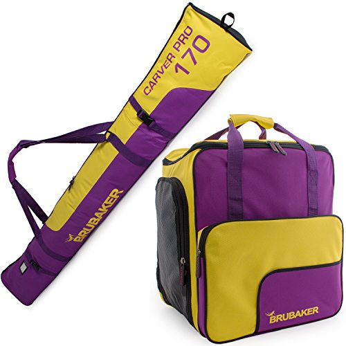 BRUBAKER Superfunction – Limited Edition – Combo Ski Boot Bag and Ski Bag for 1 Pair ...