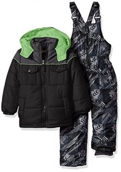 iXtreme Boys' Toddler Active Colorblock Snowsuit, Black CB, 2T