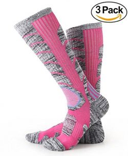 Ski Socks – Womens Hiking / Skiing / Trekking / Snowboard Multi Performance Sport Socks 3  ...
