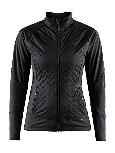 Craft Sportswear Womens Fusion Nordic Cross Country Ski Quilted Windproof Lightweight Jacket, Bl ...