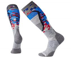SmartWool Men's PhD Ski Medium Pattern Socks (Light Gray) Medium