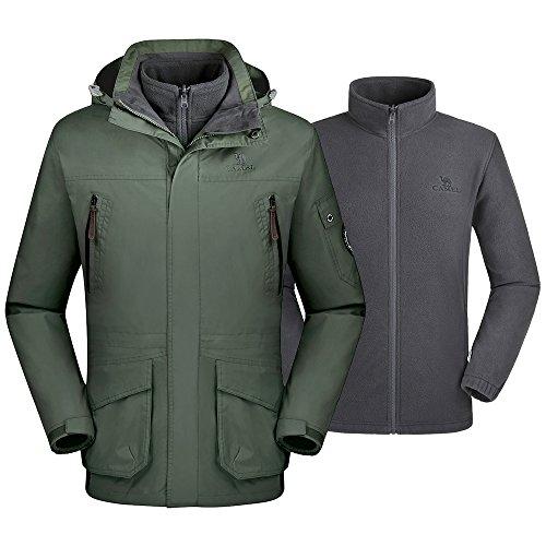 Camel Waterproof Ski Jacket 3-in-1 Women's/Men's Outdoor Mountain Windproof Fleece W ...