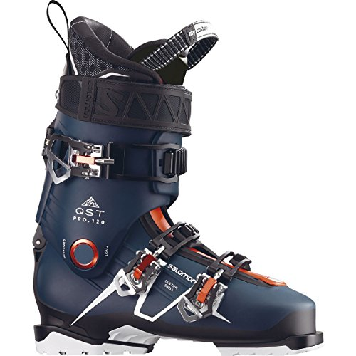 Salomon QST Pro 120 Ski Boots – 25.5/Petrol Blue-Black-Orange