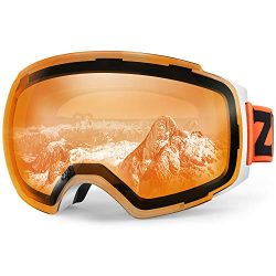 Zionor X4 Ski Snowboard Snow Goggles Magnet Dual Layers Lens Spherical Design Anti-Fog UV Protec ...
