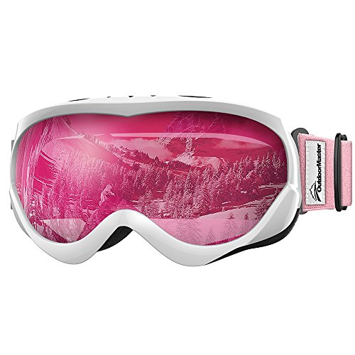 OutdoorMaster Kids Ski Goggles – Helmet Compatible Snow Goggles for Boys & Girls with  ...