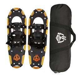 ENKEEO All Terrain Snowshoes Lightweight Aluminum Alloy with Carry Bag and Adjustable Ratchet Bi ...