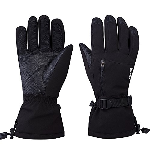 Aegend Ski Snowboard Gloves Large Waterproof Thinsulate Winter Thermal Warm Gloves Windproof Black