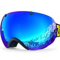 Zionor XA Ski Snowboard Snow Goggles for Men Women Anti-Fog UV Protection Spherical Dual Lens Design