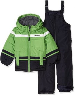 London Fog Little Boys' 2-Piece Snow Pant and Jacket Snowsuit, Green, 7