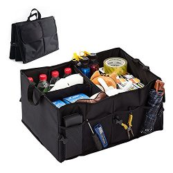 Car Storage Organizer Auto Trunk SUV Heavy Duty Portable Durable Collapsible Waterproof Truck Ca ...