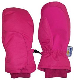 N'Ice Caps Kids Easy On Thinsulate Waterproof Wrap Mitten (2-3 Years, Fuchsia Solid)