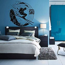 Decal Sticker Downhill Ski Winter Sport Snow Mountains Boys Teenager roomWall Vinyl SK1906